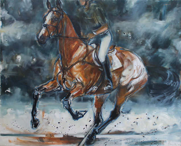 Rosemary Parcell nz horse and equestrian artist, eventer